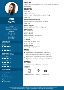 Sample CV from CraftCV