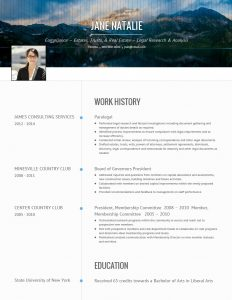 Sample CV from VisualCV