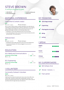 Sample CV from EnhanCV